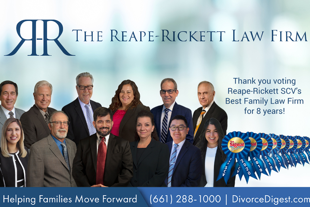 Reape-Rickett Voted Santa Clarita's Best Family Law Firm